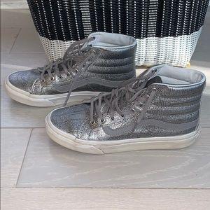 📌 VANS Foil Metallic SK8-HI Slim Sneakers